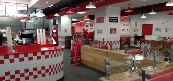 obra restaurante Five Guys